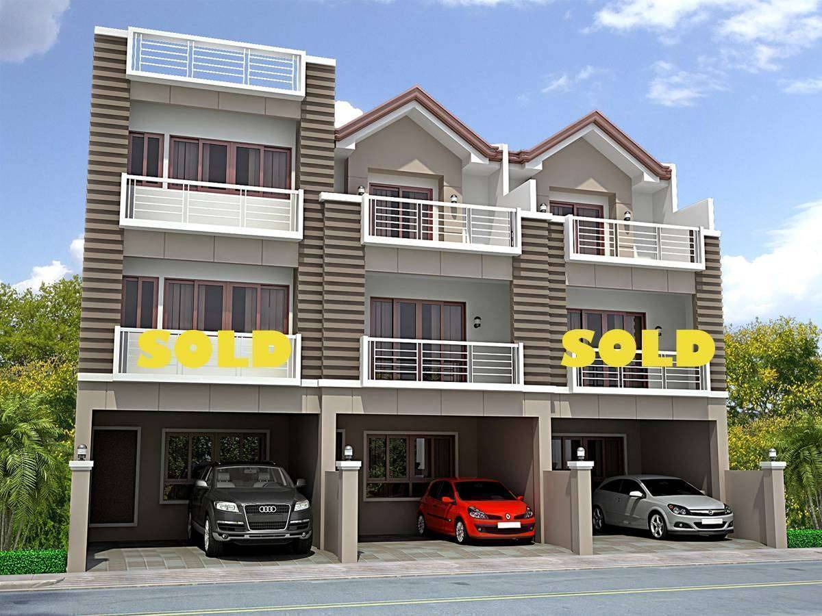 Modern design townhouse scout area near tomas morato for Modern house quezon city