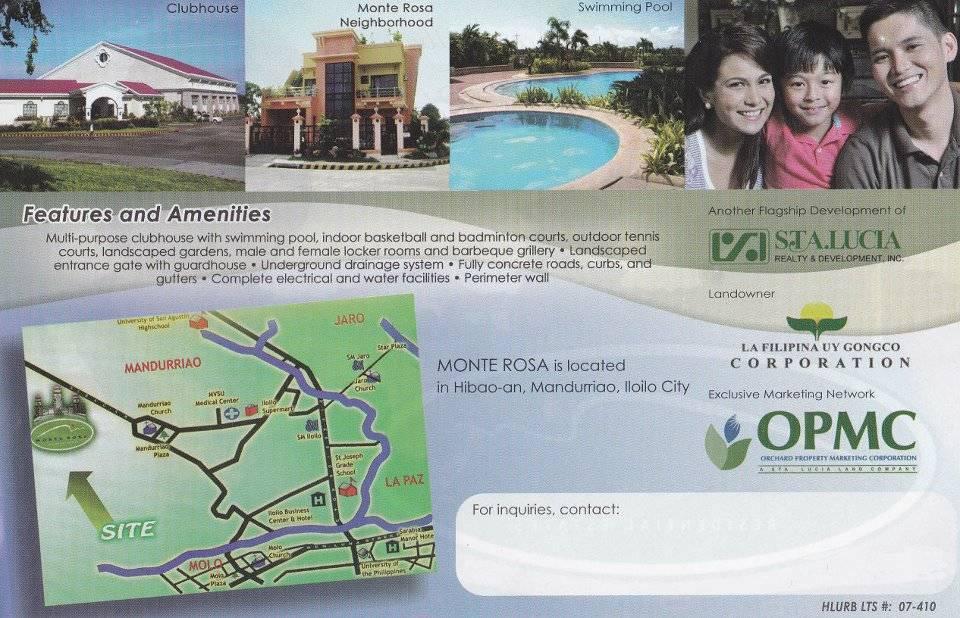 Land For Development Iloilo City Iloilo Iloilo City Philippines Lot Only In Monte Rosa