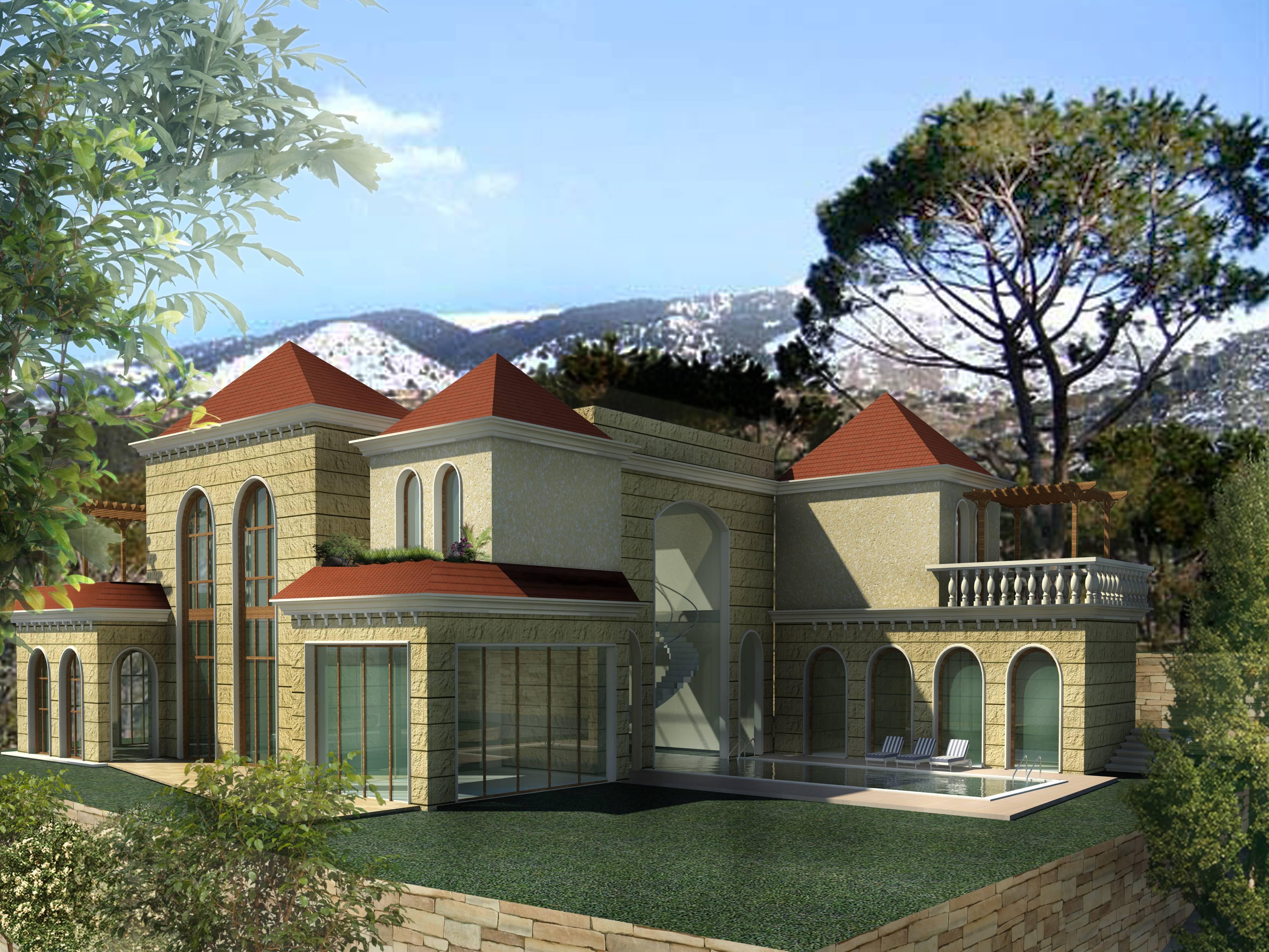 Villa for sale in lebanon bhamdoun md1095354 lebanon mont liban bhamdoun eldayaa villa - Libanese villa ...