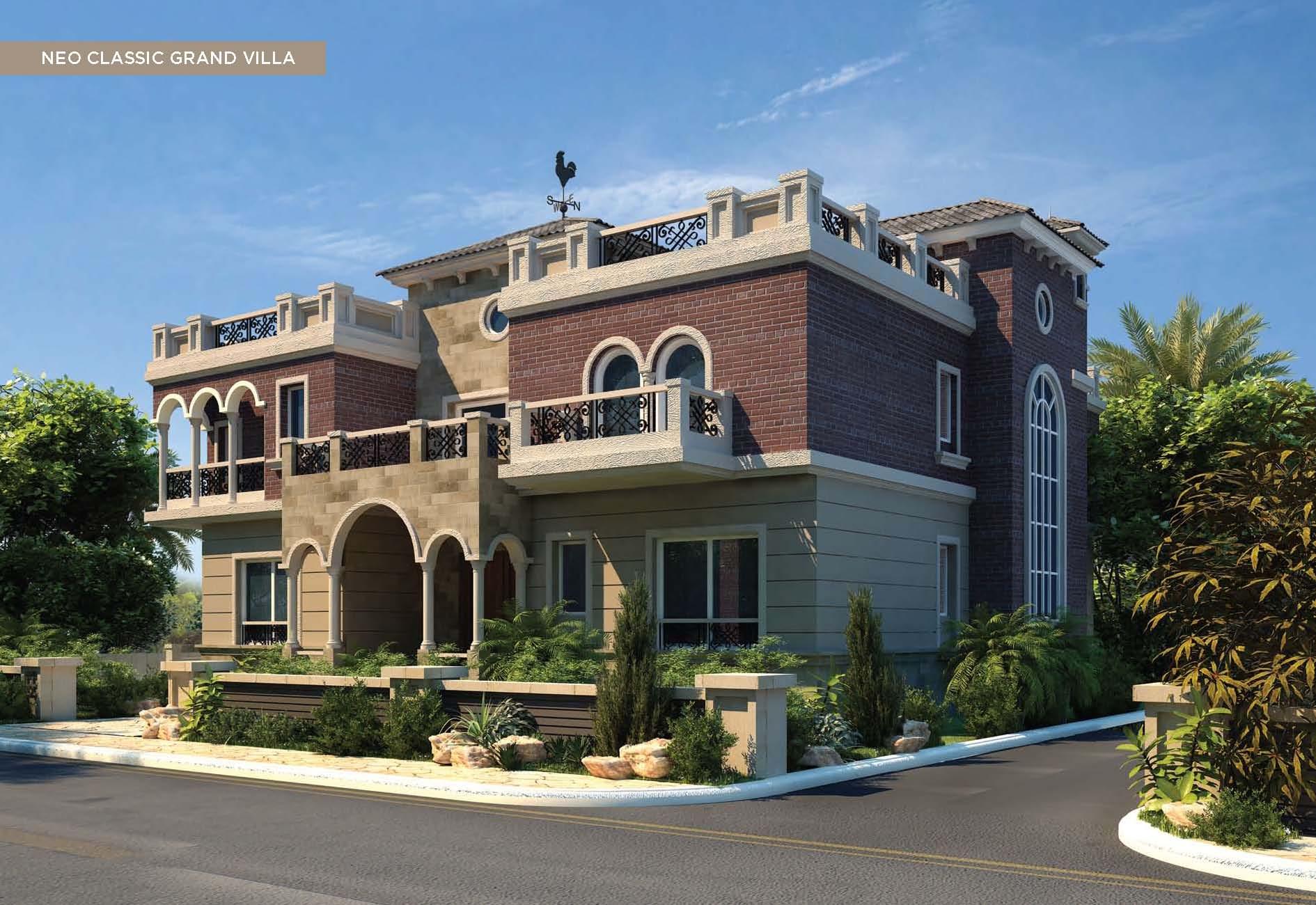 Newgiza md2468902 egypt al jizah g za villa for for Classic house elevation